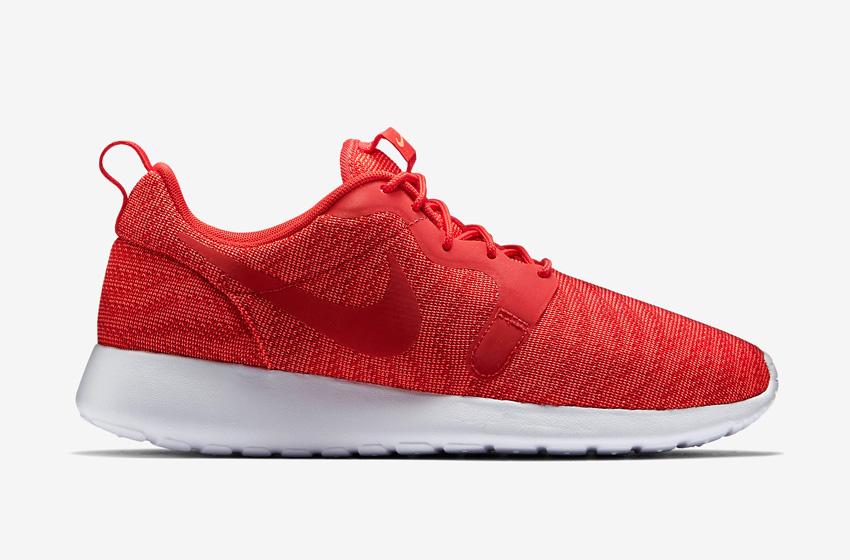 Nike Roshe One Knit Jacquard – červené boty, bílá podrážka – Nike Roshe Run, tenisky, sneakers