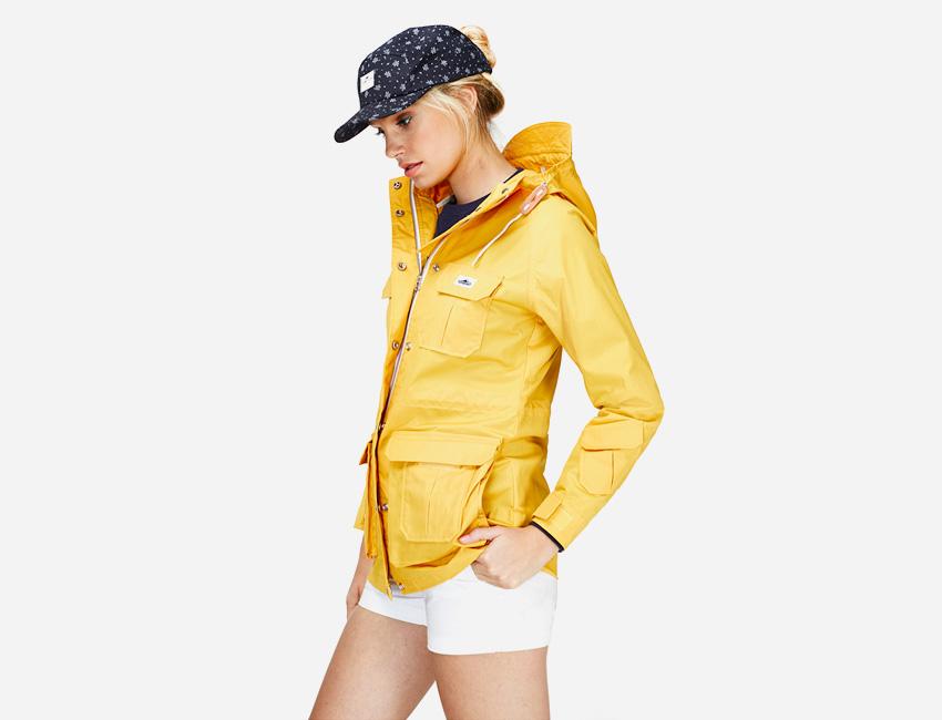 Penfield – dámská žlutá bunda s kapucí, jarní/letní – dámské oblečení – jaro/léto 2015