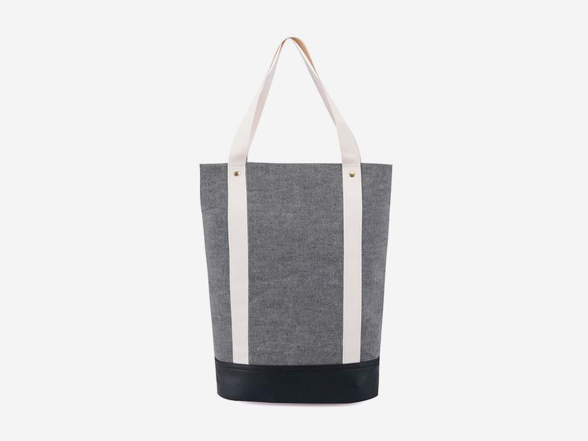 Plátěná bavlněná taška Zoot & Mumray – šedá, městská taška do ruky se zipem