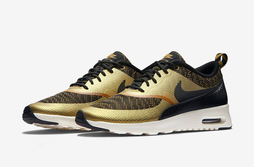Nike Air Max Thea Jacquard – dámské tenisky, dámské boty – zlaté, bronzové, černé – běžecké sneakers