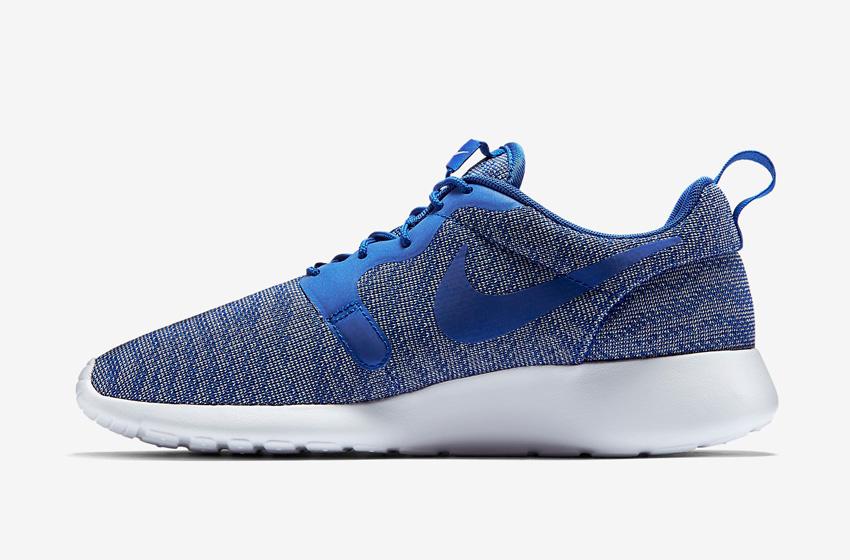 Nike Roshe One Knit Jacquard – modré, šedo-modré, bílá podrážka – Nike Roshe Run, sneakers, běžecké tenisky
