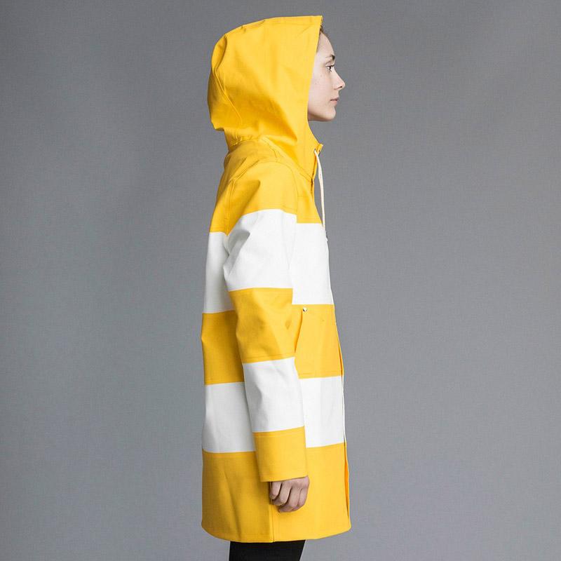 Stutterheim – pršiplášť s kapucí – dámský, pánský – žluto-bílý, bílo-žlutý