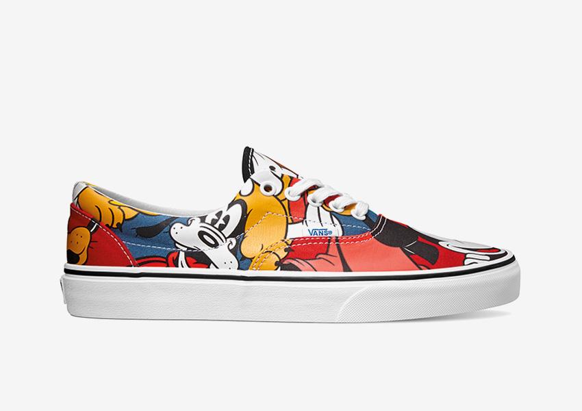 Vans x Disney – barevné boty Era, motiv Goofy a Mickey Mouse