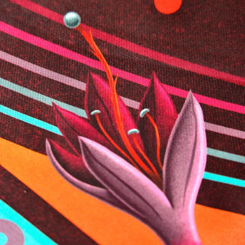 MAMAMA x Nicolas Barrome – šátek s ilustrací, dámský, červený, modrý, barevný, scarf