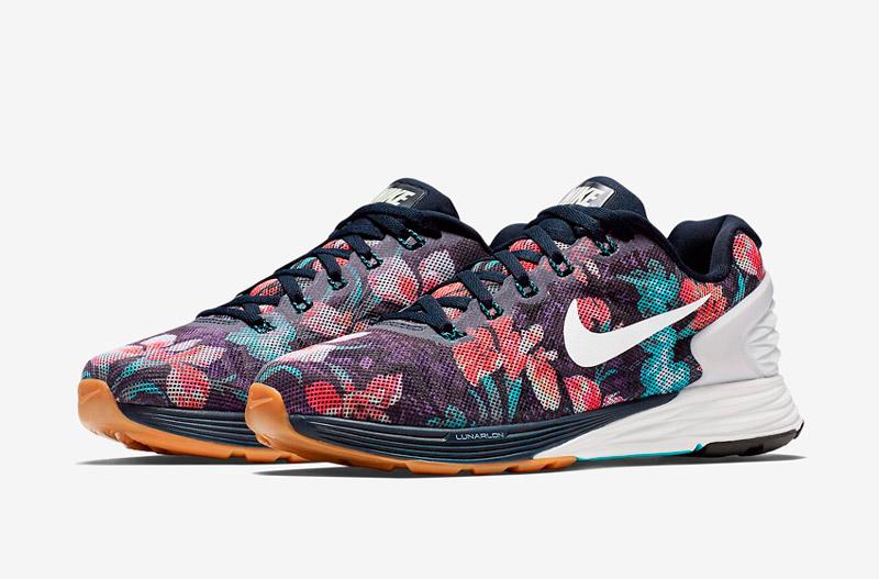 Nike LunarGlide 6 Photosynthesis – běžecké boty, tenisky, dámské, pánské, barevné, rostlinný vzor, floral