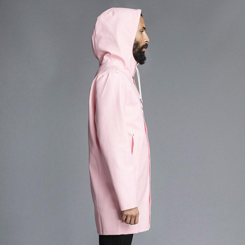 Stutterheim – plášť do deště s kapucí – pánský, dámský – růžový