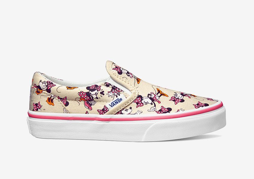 Vans x Disney – boty Slip-On bez tkaniček, barevné tenisky, motiv Minnie