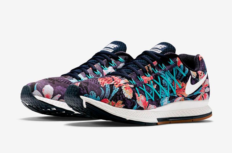 Nike Air Zoom Pegasus 32 Photosynthesis – běžecké boty, tenisky, dámské, pánské, barevné, rostlinný vzor, floral