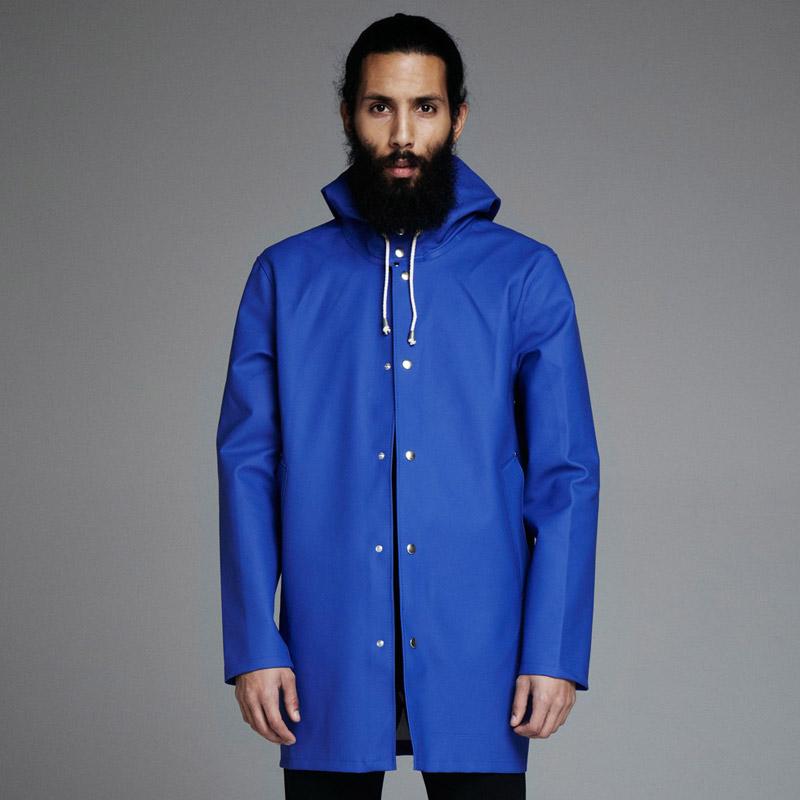 Stutterheim – plášť do deště s kapucí – pánský, dámský – modrý