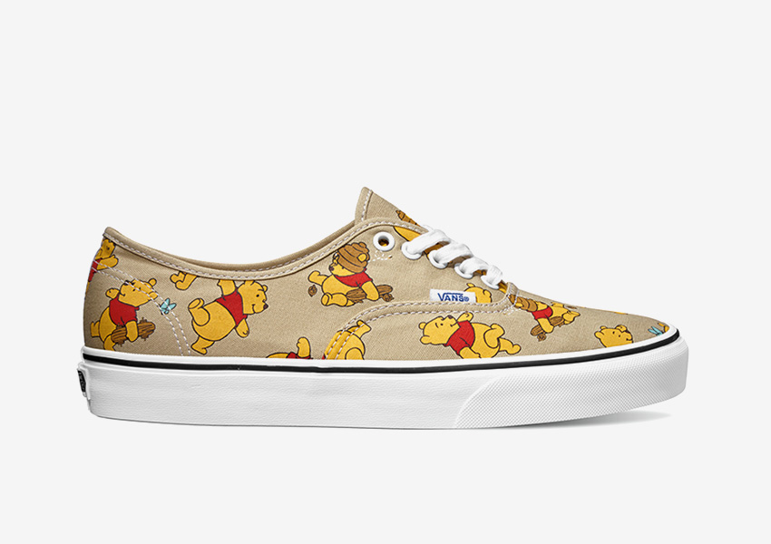 Vans x Disney – béžové boty authentic, Medvídek Pů