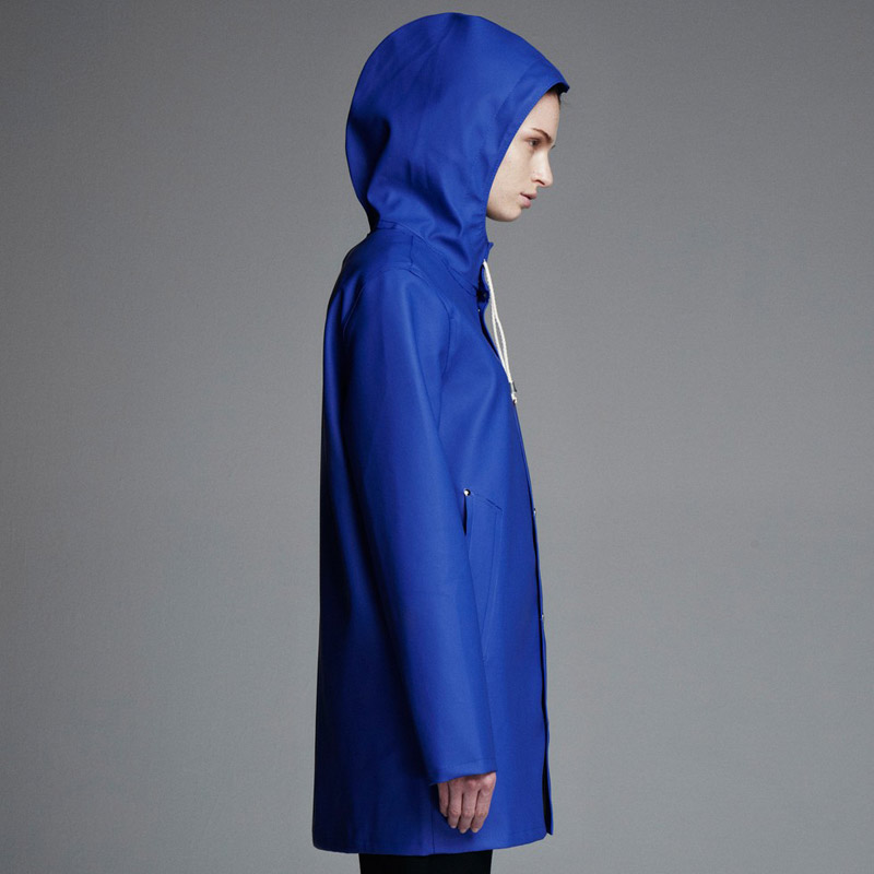 Stutterheim – pršiplášť s kapucí – dámský, pánský – modrý