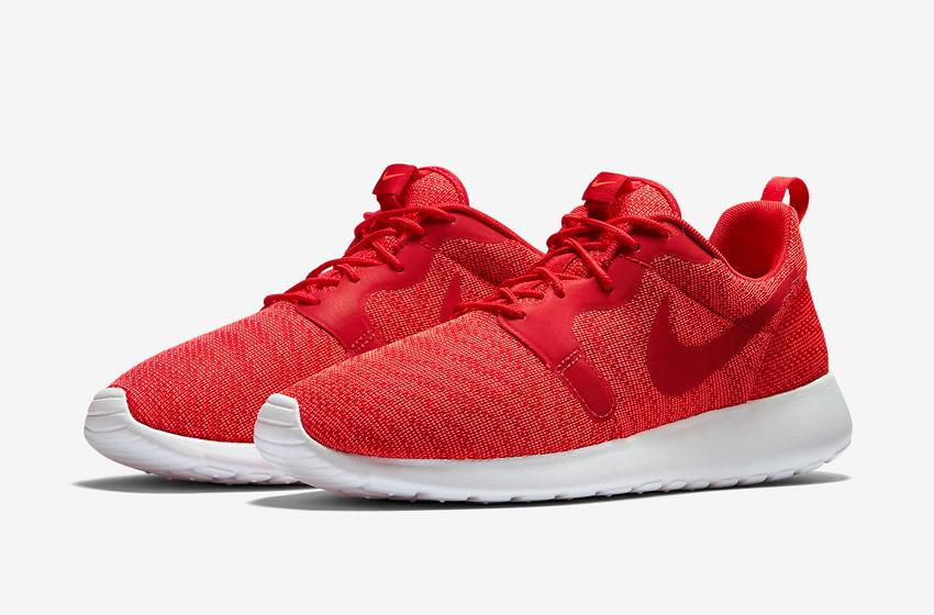 Nike Roshe One Knit Jacquard – červené, bílá podrážka – Nike Roshe Run, tenisky, sneakers