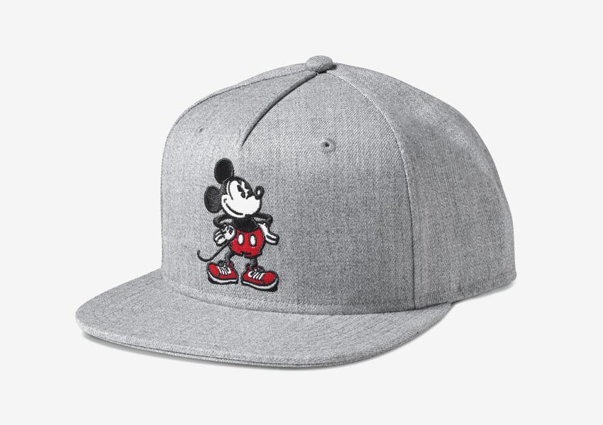 Vans x Disney – šedá kšiltovka s rovným kšiltem, Mickey Mouse