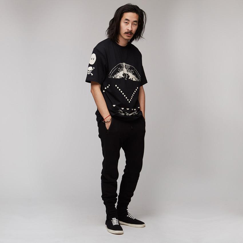 VV — Villainous Visard – pánské tričko s potiskem, černé – Xerxes