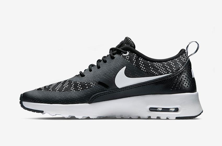 Nike Air Max Thea Jacquard – dámské boty, dámské tenisky – černé, bílá podrážka – běžecké sneakers