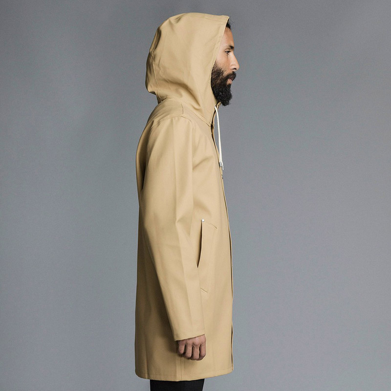 Stutterheim – plášť do deště s kapucí – pánský, dámský – béžový, světle hnědý