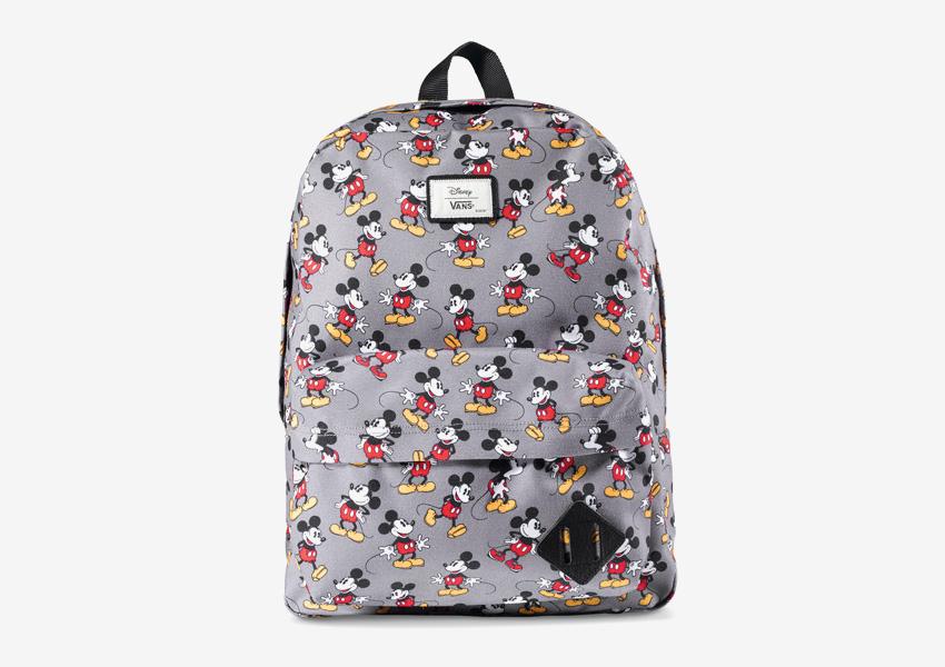 Vans x Disney – šedý batoh s Mickey Mousem