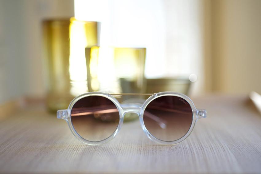 Komono – sluneční brýle Vivien, transparentní, moderní – lookbook jaro/léto 2015