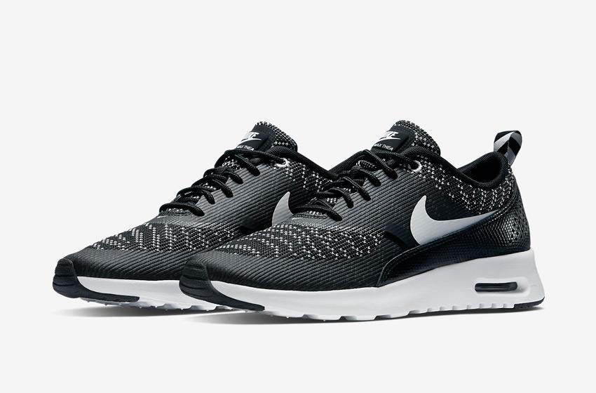 Nike Air Max Thea Jacquard – dámské tenisky, dámské boty – černé, bílá podrážka – běžecké sneakers