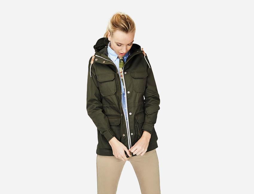 Penfield – dámská tmavě zelená bunda s kapucí, parka – dámské oblečení – jaro/léto 2015