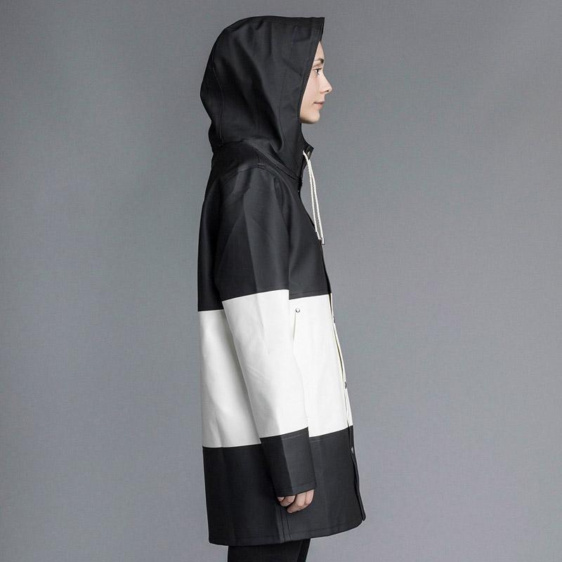 Stutterheim – pršiplášť s kapucí – dámský, pánský – bílo-černý, černo-bílý