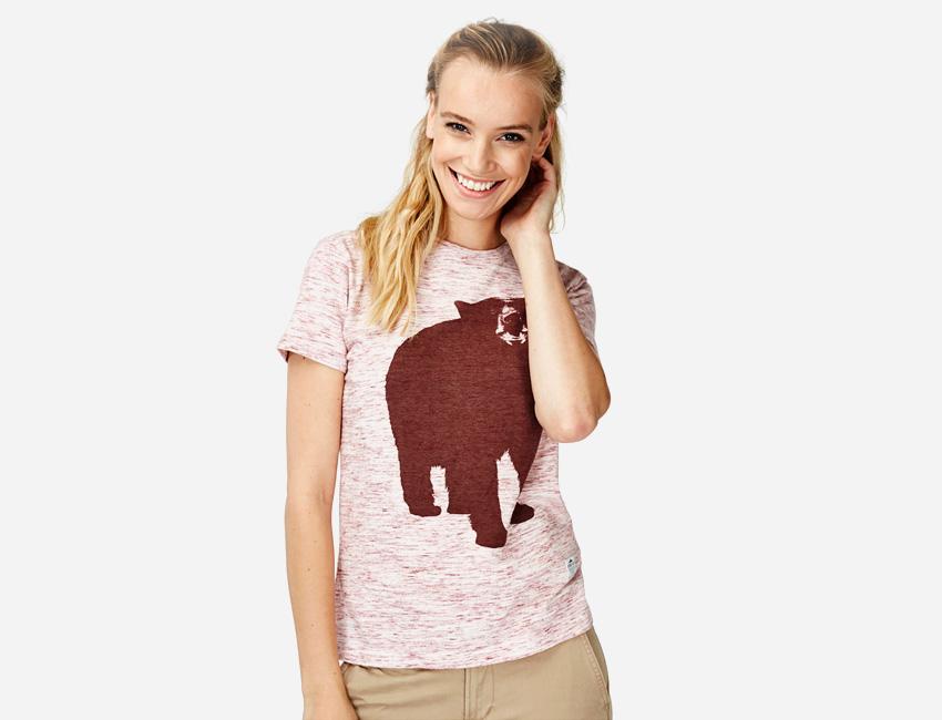 Penfield – tričko s potiskem – medvěd – dámské oblečení – jaro/léto 2015