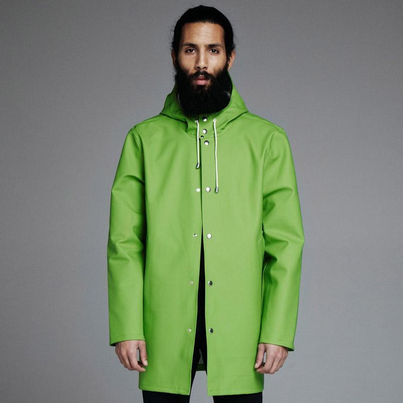 Stutterheim – plášť do deště s kapucí – pánský, dámský – zelený