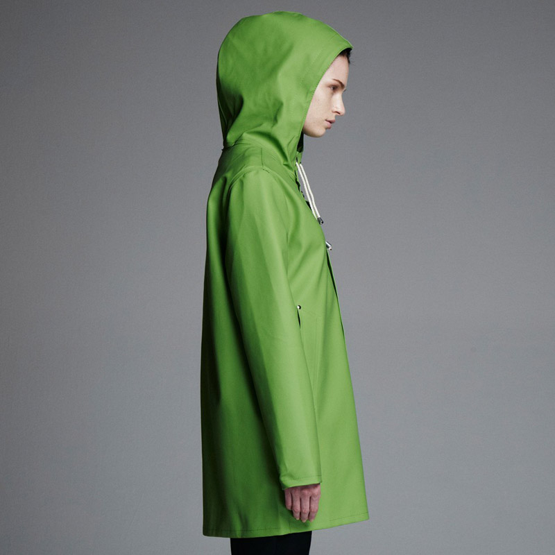 Stutterheim – pršiplášť s kapucí – dámský, pánský – zelený