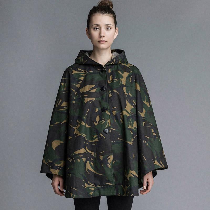 Stutterheim – plášť do deště s kapucí – dámský, pánský – maskáčový