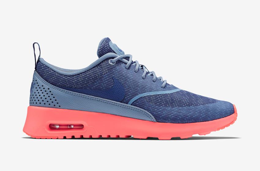 Nike Air Max Thea Jacquard – dámské boty, dámské tenisky – modré, růžová podrážka – běžecké sneakers