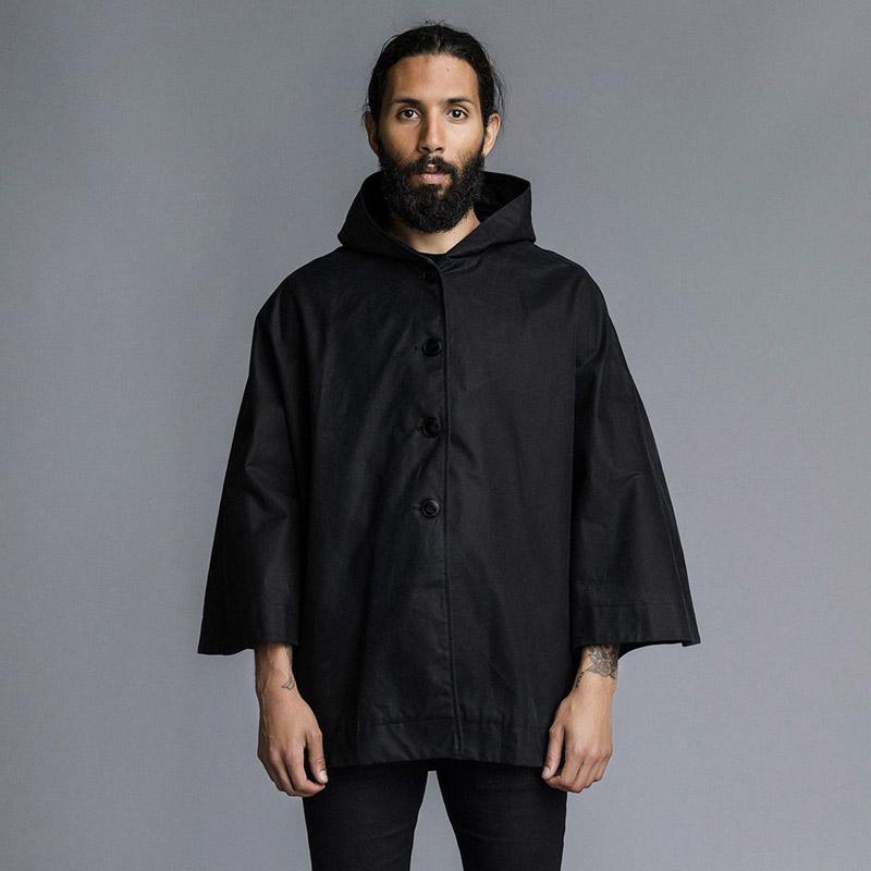 Stutterheim – plášť do deště s kapucí – pánský, dámský – černý