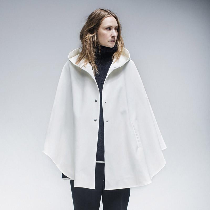 Stutterheim – plášť do deště s kapucí – dámský, pánský – bílý