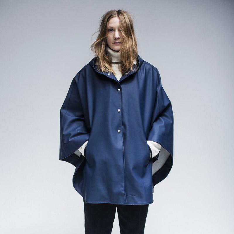Stutterheim – pršiplášť s kapucí – dámský, pánský – modrý (námořnická modrá)