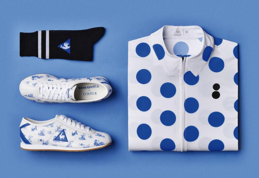 Collete & Le Coq Sportif — cyklistické oblečení, boty — Tour de France 2015
