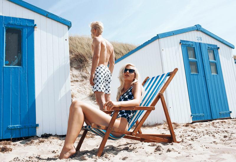 Daily Paper x Ace & Tate — dámské plavky, pánské koupací šortky, sluneční brýle