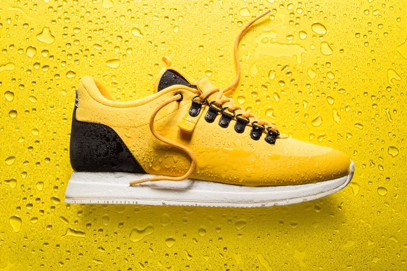 Akio — žluté boty, tenisky, dámské a pánské sneakers, voděodolné, nepromokavé — The Orion — Rain City Pack