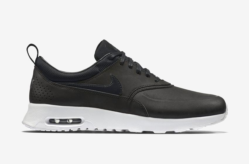 Nike Air Max Thea Premium Black — dámské boty — černé, kožené, tenisky, sneakers