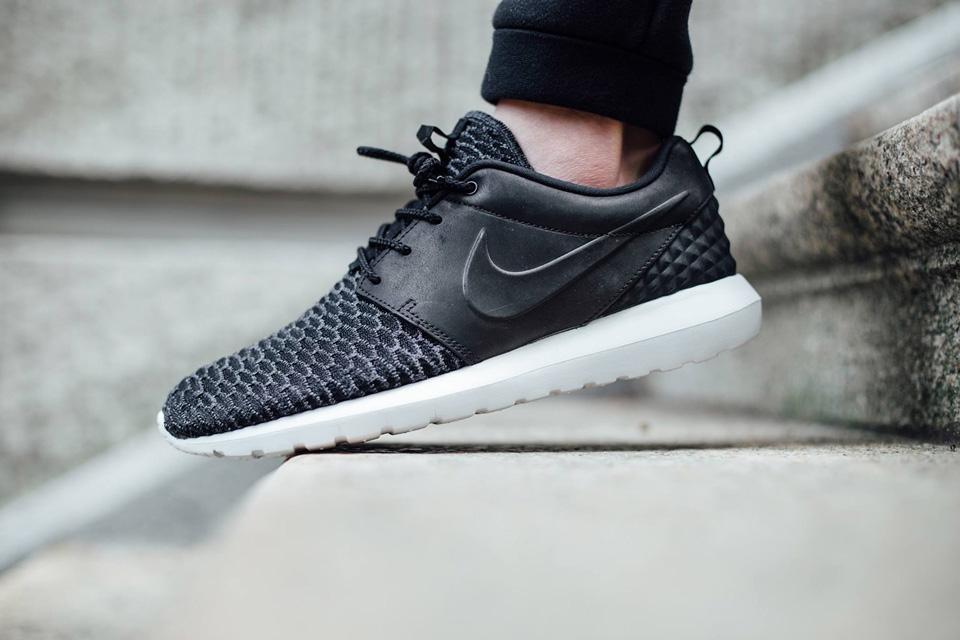 Nike Roshe One NM Flyknit Premium — černé boty, pánské a dámské tenisky, sneakers, Roshe Run, běžecké