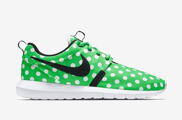 Nike Roshe One NM QS Polka Dot – zelené boty s bílými puntíky, sneakers, puntíkované, tenisky, dámské a pánské – Roshe Run
