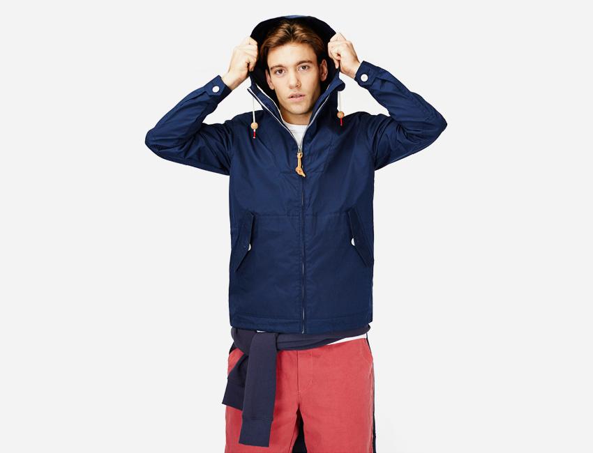 Penfield — pánská jarní/letní bunda s kapucí, modrá — pánské oblečení jaro/léto 2015