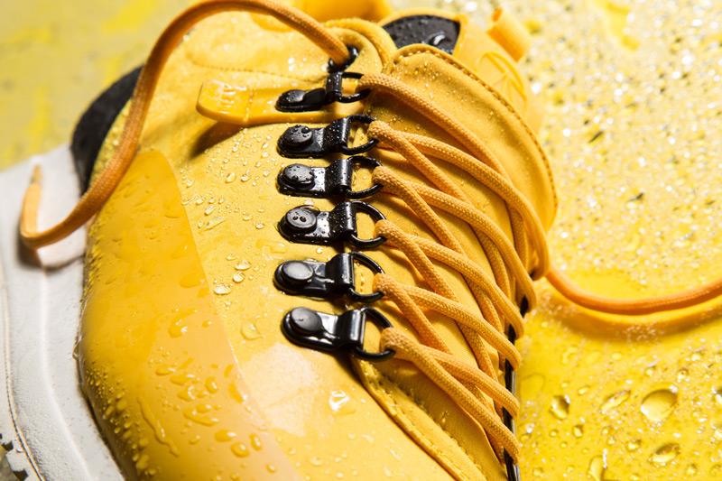 Akio — žluté tenisky, pánské a dámské boty, sneakers, detail, voděodolné, nepromokavé — The Orion — Rain City Pack