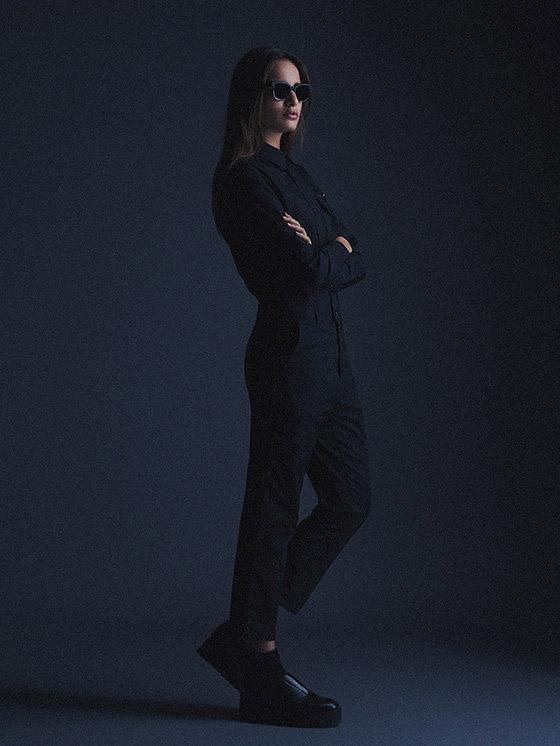Carhartt WIP – černý overal dámský – podzim/zima 2015, dámské oblečení