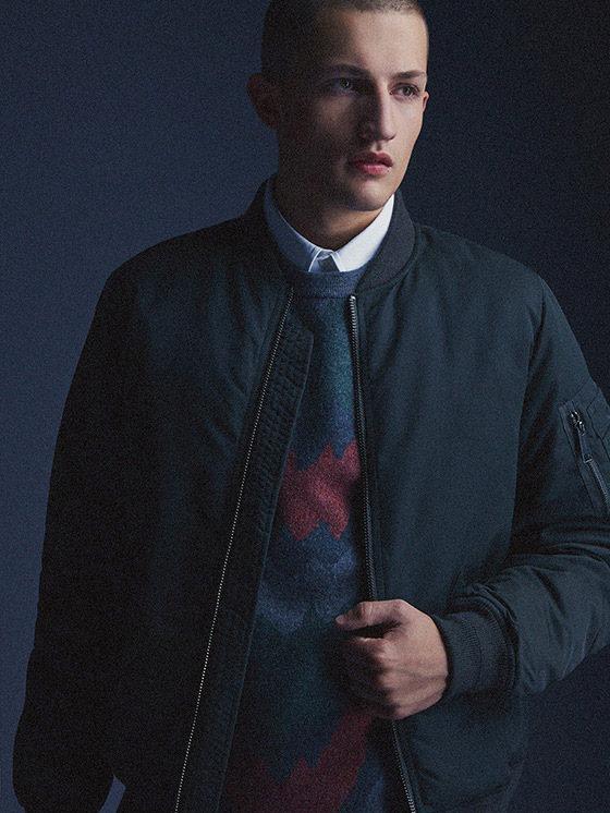 Carhartt WIP — pánský podzimní/zimní bomber, modrý — podzim/zima 2015, pánské oblečení