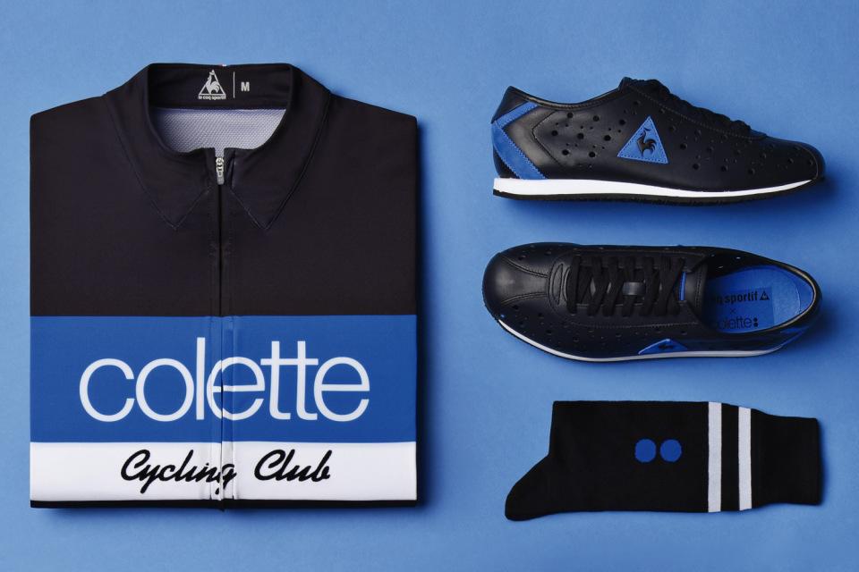 Collete x Le Coq Sportif – černý dres, šerné boty, černé ponožky – Tour de France 2015