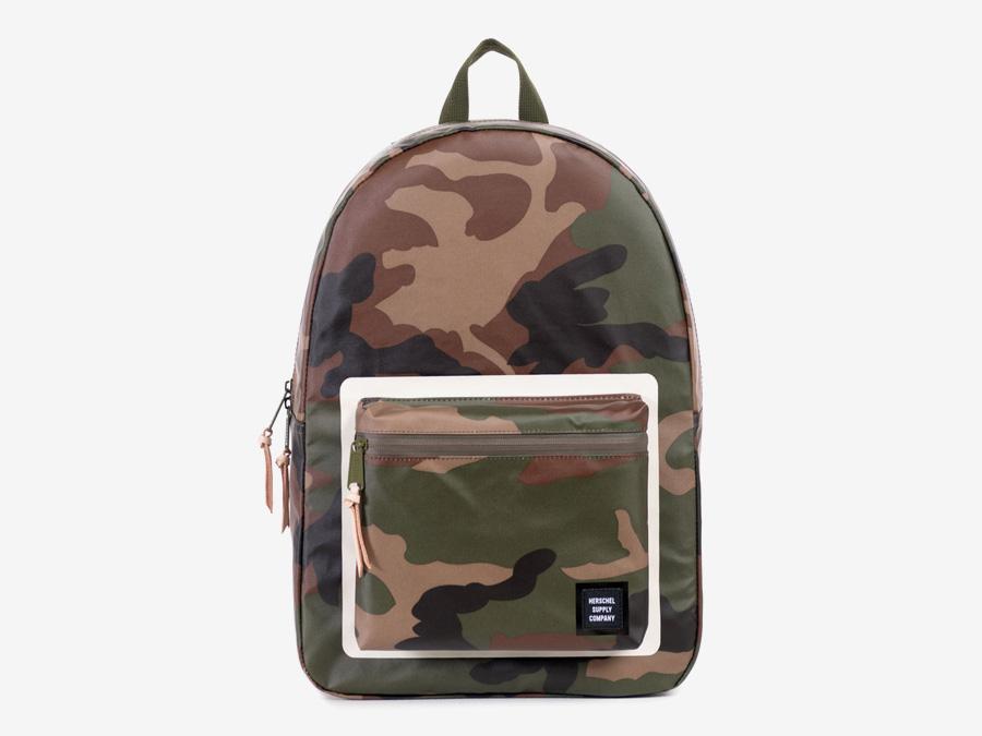 Herschel Supply Studio — batoh na záda maskáčový, camo, stylový, školní, voděodolný, nepromokavý — Settlement Backpack