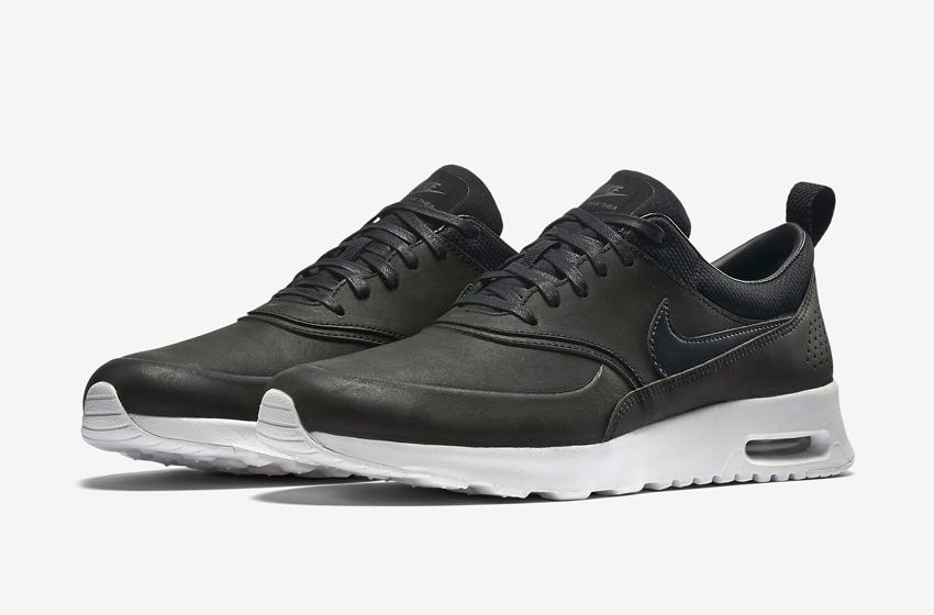 Nike Air Max Thea Premium Black — dámské boty — černé, kožené, sneakers, tenisky