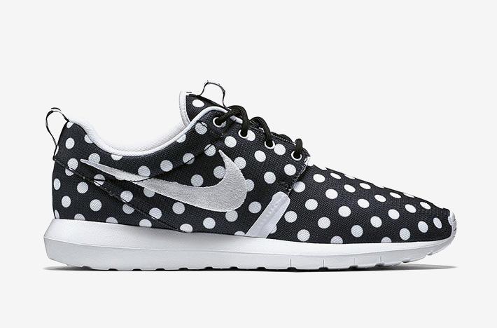 Nike Roshe One NM QS Polka Dot – černé boty s bílými puntíky, sneakers, puntíkované, tenisky, dámské a pánské – Roshe Run