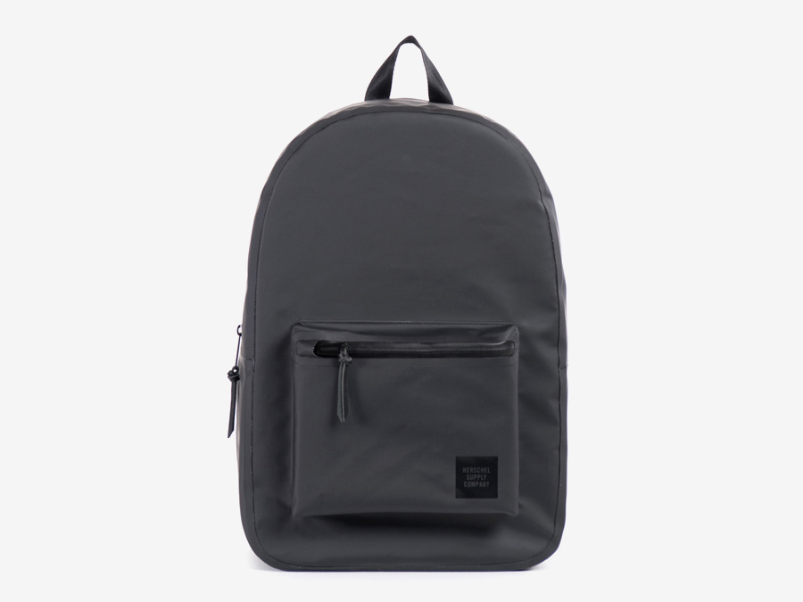 Herschel Supply Studio — stylový batoh na záda, voděodolný, černý školní batoh, nepromokavý — Settlement Backpack