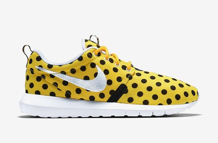 Nike Roshe One NM QS Polka Dot – žluté boty s černými puntíky, sneakers, puntíkované, tenisky, dámské a pánské – Roshe Run