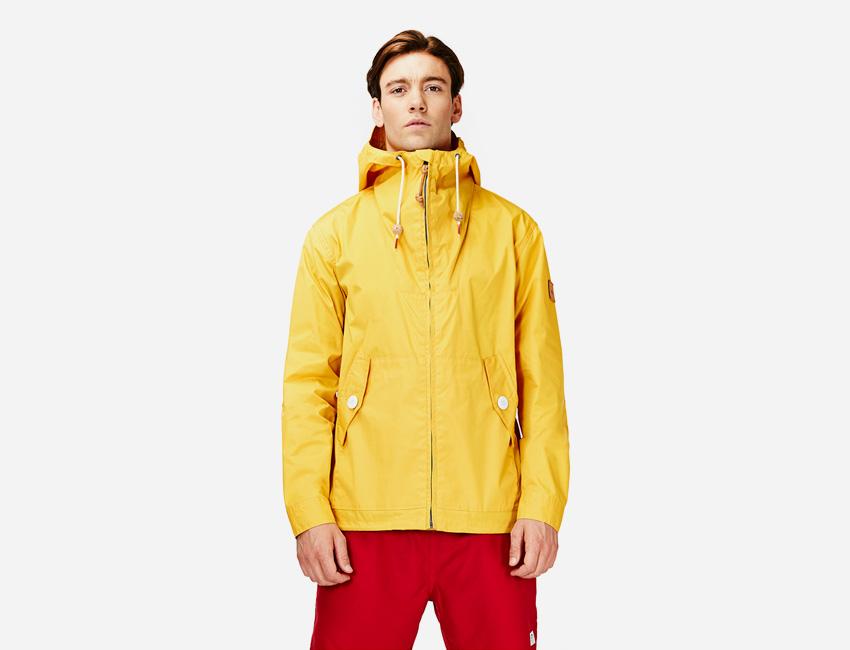 Penfield — žlutá kratší bunda s kapucí, pánská — pánské oblečení jaro/léto 2015